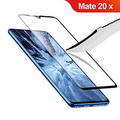 Pellicola in Vetro Temperato Protettiva Integrale Proteggi Schermo Film F02 per Huawei Mate 20 X 5G Nero