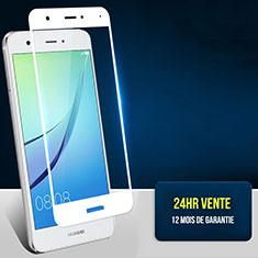 Pellicola in Vetro Temperato Protettiva Integrale Proteggi Schermo Film F02 per Huawei Nova Bianco