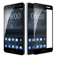 Pellicola in Vetro Temperato Protettiva Integrale Proteggi Schermo Film F02 per Nokia 6 Nero