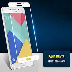Pellicola in Vetro Temperato Protettiva Integrale Proteggi Schermo Film F02 per Samsung Galaxy A7 (2016) A7100 Bianco