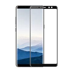 Pellicola in Vetro Temperato Protettiva Integrale Proteggi Schermo Film F02 per Samsung Galaxy A8 (2018) A530F Nero