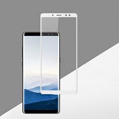 Pellicola in Vetro Temperato Protettiva Integrale Proteggi Schermo Film F02 per Samsung Galaxy A8 (2018) Duos A530F Bianco