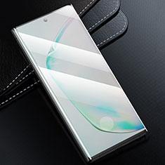 Pellicola in Vetro Temperato Protettiva Integrale Proteggi Schermo Film F02 per Samsung Galaxy Note 10 Plus Nero