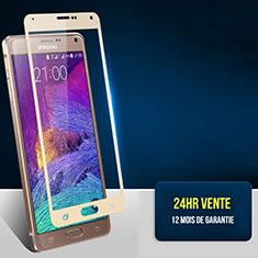 Pellicola in Vetro Temperato Protettiva Integrale Proteggi Schermo Film F02 per Samsung Galaxy Note 4 Duos N9100 Dual SIM Oro