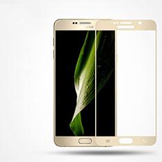 Pellicola in Vetro Temperato Protettiva Integrale Proteggi Schermo Film F02 per Samsung Galaxy Note 5 N9200 N920 N920F Oro