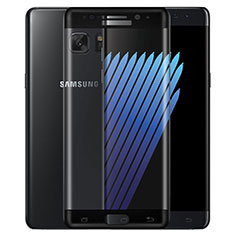 Pellicola in Vetro Temperato Protettiva Integrale Proteggi Schermo Film F02 per Samsung Galaxy Note 7 Nero