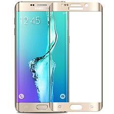 Pellicola in Vetro Temperato Protettiva Integrale Proteggi Schermo Film F02 per Samsung Galaxy S6 Edge+ Plus SM-G928F Bianco