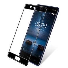 Pellicola in Vetro Temperato Protettiva Integrale Proteggi Schermo Film F03 per Nokia 8 Nero
