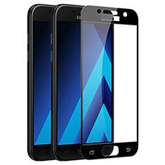 Pellicola in Vetro Temperato Protettiva Integrale Proteggi Schermo Film F03 per Samsung Galaxy A7 (2017) A720F Nero