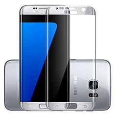 Pellicola in Vetro Temperato Protettiva Integrale Proteggi Schermo Film F03 per Samsung Galaxy S7 Edge G935F Argento