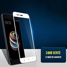 Pellicola in Vetro Temperato Protettiva Integrale Proteggi Schermo Film F03 per Xiaomi Mi 5X Bianco