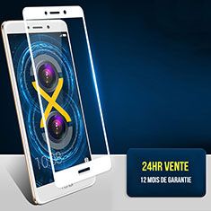 Pellicola in Vetro Temperato Protettiva Integrale Proteggi Schermo Film F04 per Huawei Honor 6X Pro Bianco