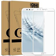 Pellicola in Vetro Temperato Protettiva Integrale Proteggi Schermo Film F05 per Huawei Honor 9 Lite Bianco