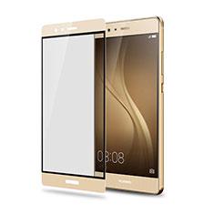 Pellicola in Vetro Temperato Protettiva Integrale Proteggi Schermo Film F05 per Huawei P9 Plus Oro