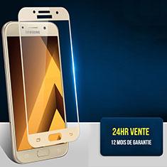 Pellicola in Vetro Temperato Protettiva Integrale Proteggi Schermo Film F05 per Samsung Galaxy A7 (2017) A720F Oro