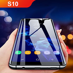 Pellicola in Vetro Temperato Protettiva Integrale Proteggi Schermo Film F05 per Samsung Galaxy S10 Nero