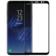 Pellicola in Vetro Temperato Protettiva Integrale Proteggi Schermo Film F07 per Samsung Galaxy S9 Nero