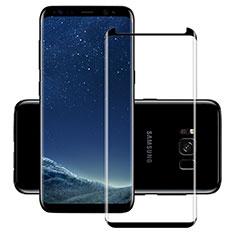 Pellicola in Vetro Temperato Protettiva Integrale Proteggi Schermo Film F11 per Samsung Galaxy S8 Nero