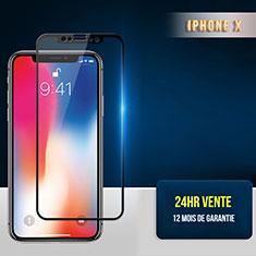 Pellicola in Vetro Temperato Protettiva Integrale Proteggi Schermo Film F30 per Apple iPhone Xs Nero
