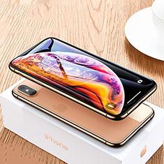 Pellicola in Vetro Temperato Protettiva Integrale Proteggi Schermo Film P06 per Apple iPhone X Nero