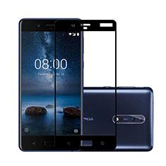 Pellicola in Vetro Temperato Protettiva Integrale Proteggi Schermo Film per Nokia 8 Nero