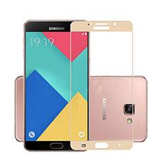 Pellicola in Vetro Temperato Protettiva Integrale Proteggi Schermo Film per Samsung Galaxy A7 (2016) A7100 Oro