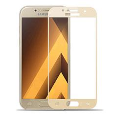 Pellicola in Vetro Temperato Protettiva Integrale Proteggi Schermo Film per Samsung Galaxy A7 (2017) A720F Oro