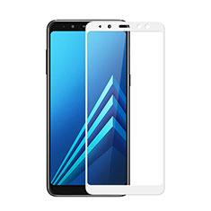 Pellicola in Vetro Temperato Protettiva Integrale Proteggi Schermo Film per Samsung Galaxy A8 (2018) Duos A530F Bianco