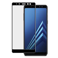 Pellicola in Vetro Temperato Protettiva Integrale Proteggi Schermo Film per Samsung Galaxy A8+ A8 Plus (2018) A730F Nero