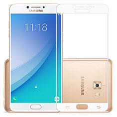 Pellicola in Vetro Temperato Protettiva Integrale Proteggi Schermo Film per Samsung Galaxy C7 Pro C7010 Bianco