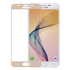 Pellicola in Vetro Temperato Protettiva Integrale Proteggi Schermo Film per Samsung Galaxy J5 Prime G570F Oro