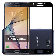 Pellicola in Vetro Temperato Protettiva Integrale Proteggi Schermo Film per Samsung Galaxy J7 Prime Nero