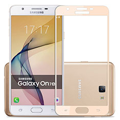 Pellicola in Vetro Temperato Protettiva Integrale Proteggi Schermo Film per Samsung Galaxy J7 Prime Oro