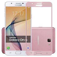 Pellicola in Vetro Temperato Protettiva Integrale Proteggi Schermo Film per Samsung Galaxy J7 Prime Rosa