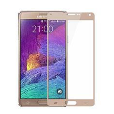 Pellicola in Vetro Temperato Protettiva Integrale Proteggi Schermo Film per Samsung Galaxy Note 4 Duos N9100 Dual SIM Oro