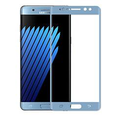 Pellicola in Vetro Temperato Protettiva Integrale Proteggi Schermo Film per Samsung Galaxy Note 7 Blu