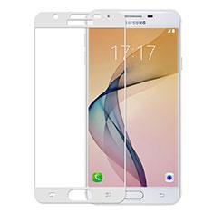Pellicola in Vetro Temperato Protettiva Integrale Proteggi Schermo Film per Samsung Galaxy On5 (2016) G570 G570F Bianco