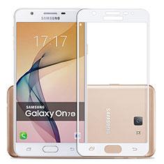 Pellicola in Vetro Temperato Protettiva Integrale Proteggi Schermo Film per Samsung Galaxy On7 (2016) G6100 Bianco