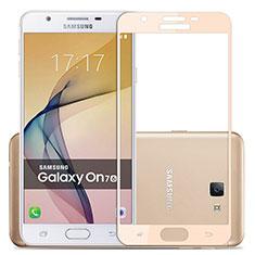 Pellicola in Vetro Temperato Protettiva Integrale Proteggi Schermo Film per Samsung Galaxy On7 (2016) G6100 Oro