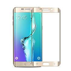 Pellicola in Vetro Temperato Protettiva Integrale Proteggi Schermo Film per Samsung Galaxy S6 Edge+ Plus SM-G928F Oro