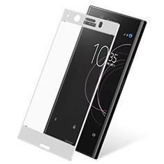 Pellicola in Vetro Temperato Protettiva Integrale Proteggi Schermo Film per Sony Xperia XZ1 Compact Bianco