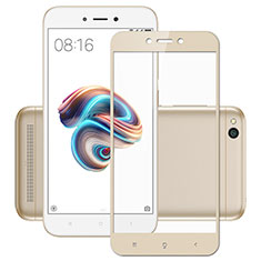 Pellicola in Vetro Temperato Protettiva Integrale Proteggi Schermo Film per Xiaomi Redmi 5A Oro