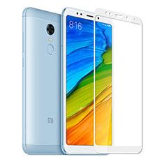 Pellicola in Vetro Temperato Protettiva Integrale Proteggi Schermo Film per Xiaomi Redmi Note 5 Indian Version Bianco