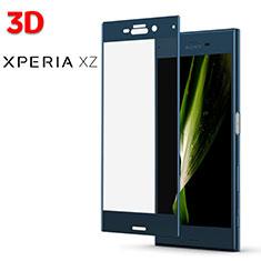 Pellicola in Vetro Temperato Protettiva Proteggi Schermo Film 3D per Sony Xperia XZs Blu