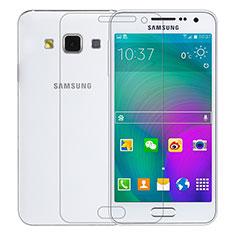 Pellicola in Vetro Temperato Protettiva Proteggi Schermo Film T01 per Samsung Galaxy A3 SM-300F Chiaro