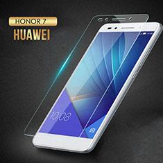 Pellicola in Vetro Temperato Protettiva Proteggi Schermo Film T02 per Huawei Honor 7 Dual SIM Chiaro