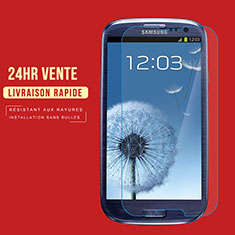 Pellicola in Vetro Temperato Protettiva Proteggi Schermo Film T02 per Samsung Galaxy S3 III LTE 4G Chiaro