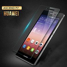 Pellicola in Vetro Temperato Protettiva Proteggi Schermo Film T03 per Huawei P7 Dual SIM Chiaro
