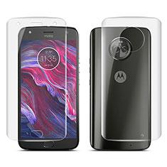 Pellicola Protettiva Fronte e Retro Proteggi Schermo Film per Motorola Moto X4 Chiaro