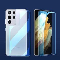 Pellicola Protettiva Fronte e Retro Proteggi Schermo Film per Samsung Galaxy S21 Ultra 5G Chiaro